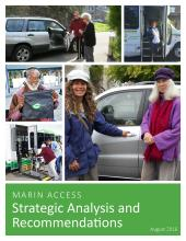 Image of cover page of Marin Access Strategic Analysis and Recommendations Report